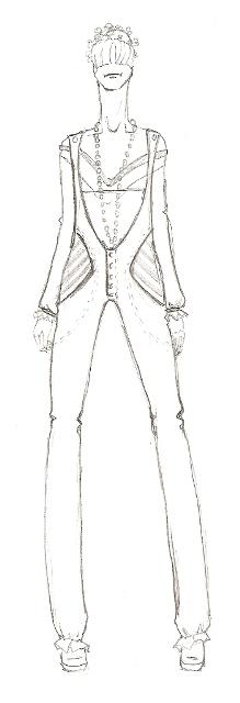 Мода - эскизы одежды карандашом.